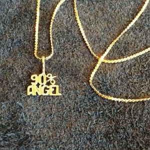 Jewelry - 14kt gold necklace and pendant